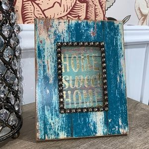 Home Sweet Home framed art table top shabby chic